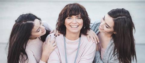 Annika Metsla koos tütardega. Foto: Tiina-Liina Uudam.