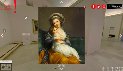 Foto: Kuvatõmmis Prantsusmaa Louvre kunstimuuseumi virtuaaltuurilt